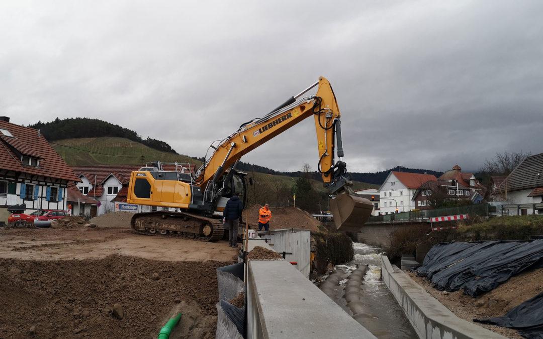 Hochwasserschutzkonzept Bühlot – Gewässerausbau Bereich Dorfplatz in Bühl-Altschweier