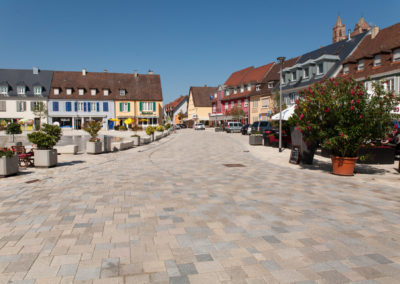 Umgestaltung Marktplatz, Gutgesellentor und Rheinstraße, Breisach am Rhein
